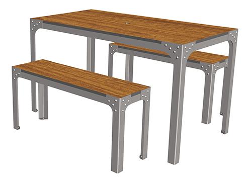 boldo table 4 places ta 114 cp 4 mobilier urbain de restauration. Black Bedroom Furniture Sets. Home Design Ideas