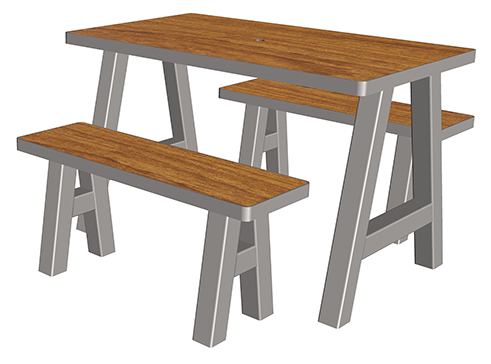 boldo table 4 places ta 115 cp 4 mobilier urbain de restauration. Black Bedroom Furniture Sets. Home Design Ideas