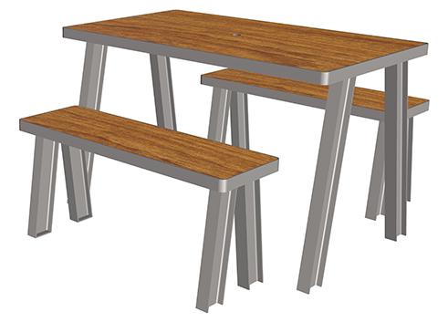 boldo table 4 places ta 116 cp 4 mobilier urbain de restauration. Black Bedroom Furniture Sets. Home Design Ideas