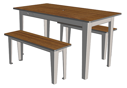 Selim table 4 places ta 240 cp 4 mobilier urbain for Table 4 places