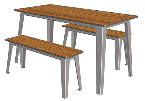 Selim table 4 places ta 241 cp 4 mobilier urbain for Table 4 places
