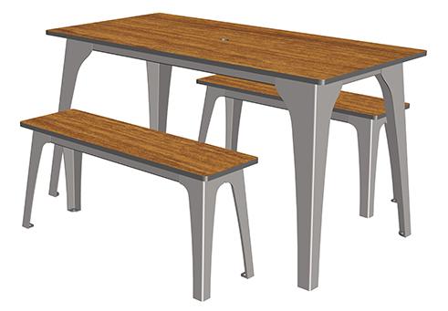 selim table 4 places ta 242 cp 4 mobilier urbain de restauration. Black Bedroom Furniture Sets. Home Design Ideas