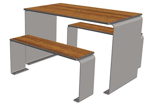 vinette table 4 places ta 530 cp 4 mobilier urbain de restauration. Black Bedroom Furniture Sets. Home Design Ideas